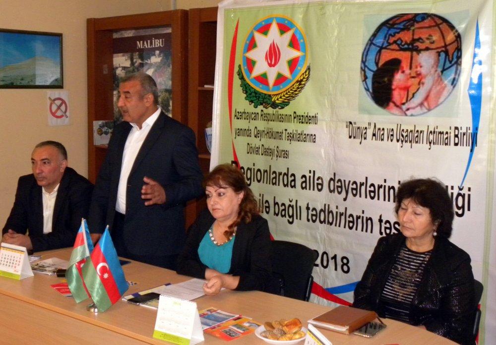 """""""Dünya"""" Ana və Uşaqlar İctimai Birliyi  Xaçmazda növbəti tədbirini keçirdi"""