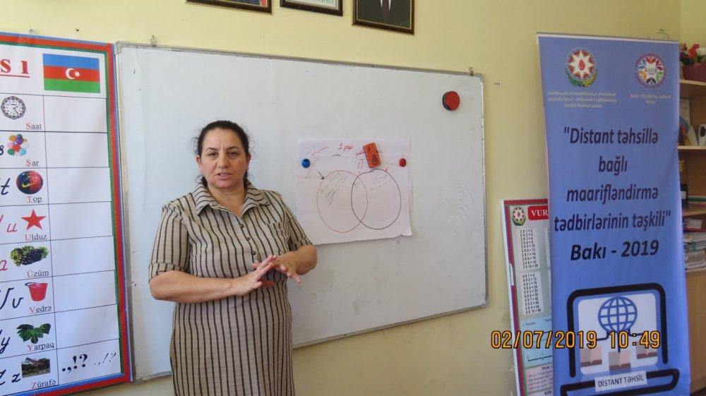 """""""Azad Müəllimlər"""" İctimai Birliyinin layihəsi çərçivəsində növbəti təlim keçrildi"""